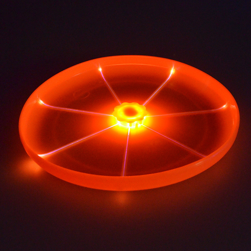 New arrival silicone pet toys frisbee, led dog frisbee discs