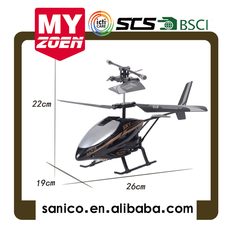 Resistance to fall with lamp remote control helicopter two-way foreign trade processing custom outdoor toys OEM