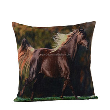 China factory high quality horse applique work cushion pillow case cover