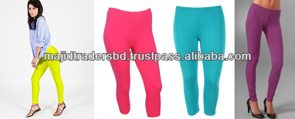 cotton ladies solid color leggings within reasonable price