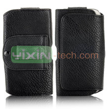 Black Belt Clip Magnetic Pouch Flip Leather Holster Case for Samsung Galaxy S4 i9500