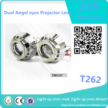 2017 Double angel eye COB round T262 projector optical lens for automobiles and motorcycles
