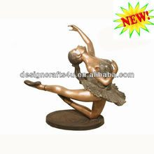 polyresin ballet dancer figurine statue