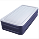 heavy-duty flocked plastic inflatable queen size air mattress folding raised inflatable fabric relax air bed