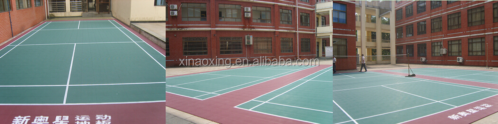 SUGE Outdoor Interlocking Sports Court Flooring Made by Virgin Polypropylene