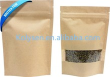 Kraft paper bag with clear window for packing dry food/fruit