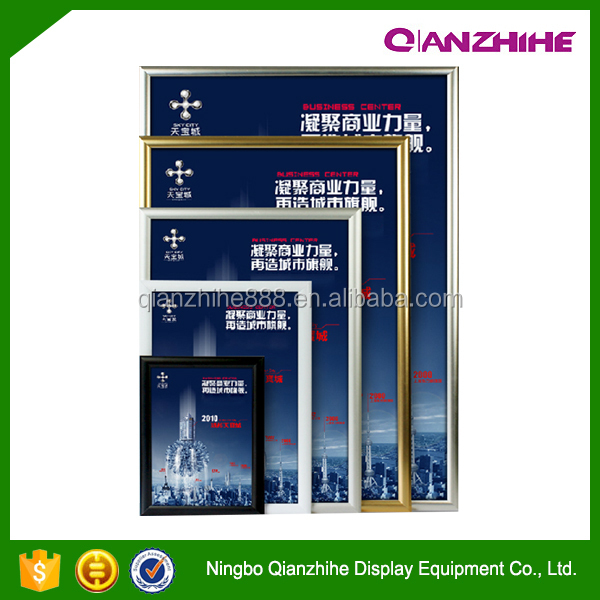 fashion low price Extruded aluminum snap poster frame