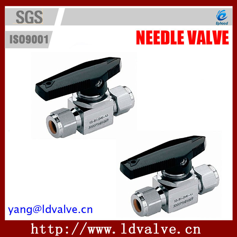 B1Series 3000PSI One-piece Ball Valves Alloy 400 Monel Manual Needle Valve