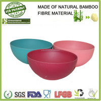 round food bamboo fiber eco friendly kitchenware disposable bowl, bamboo dinner bowl