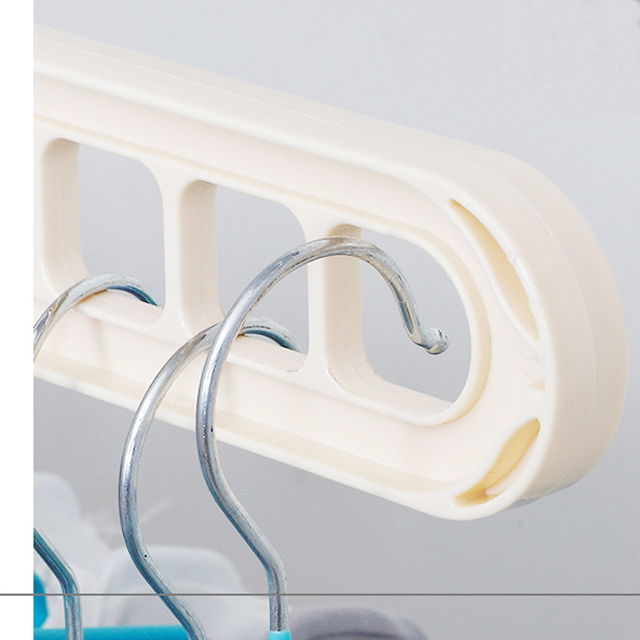 Magic Clothes Hanger,  Foldable Plastic Hangers,  360 Degree Swivel, Creative Cabinet Multifunctional Drying Coat Rack