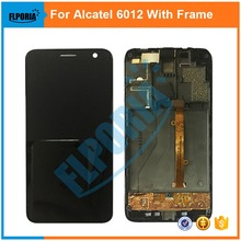100% New for Alcatel One Touch Idol Mini 6012 OT6012 6012D LCD Screen Display + Touch Screen Digitizer Assembly with Frame Black
