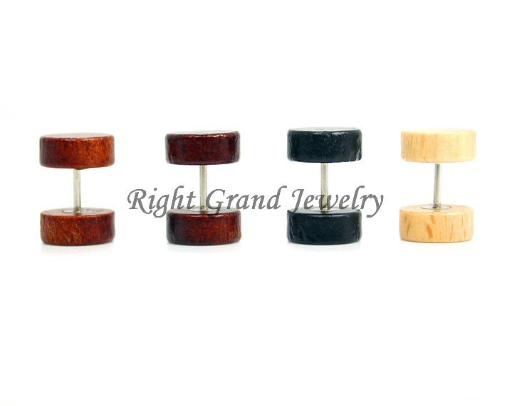 Wholesale Wood Fake Tunnels Piercing Body Jewelry