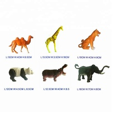 6 inch mini plastic wild zoo animal set toy