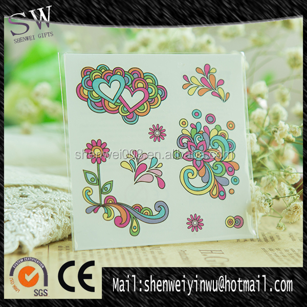 colors heart wholesale supplies body tattoo