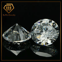 2.75mm AAA Grade White Color Round Shape Cubic Zirconia Stone