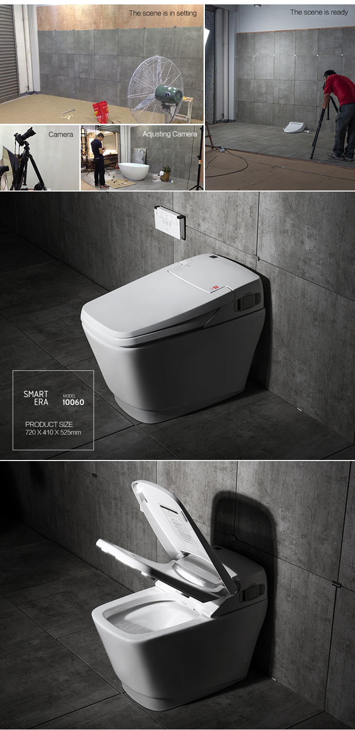 New smart one piece japanese bidet toilet