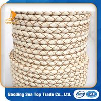 Round Braided Leather Cord For Wholesale
