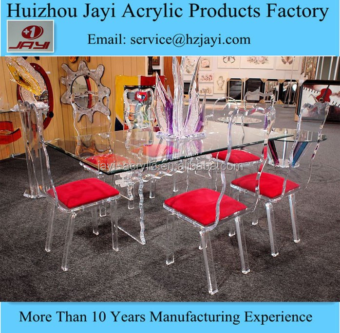 JYT-031Factory wholesale perspex dining table and chairs/plexiglass dining table with chairs