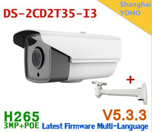 Hikvision New arrival DS-2CD2T35-I3 3MP EXIR Bullet POE cameras POE CCTV 1080P IP network cameras H265 IPC