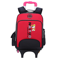 2016 new design kids trolly school bag for teens backpack with wheels sample free