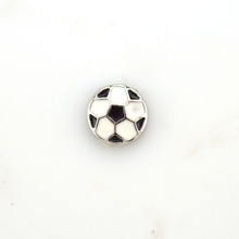 Hot sale 20pcs/pack football charms for floating locket
