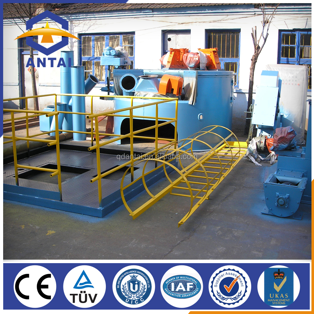 batch cleaning rotary table shot blast machine