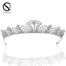 TR15040 Hair Accessories Fashion Jewelry Design real diamond crowns and tiaras