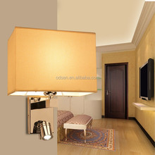 zhongshan hotel room bed room wall lamp fabric wall lamp for bedroom
