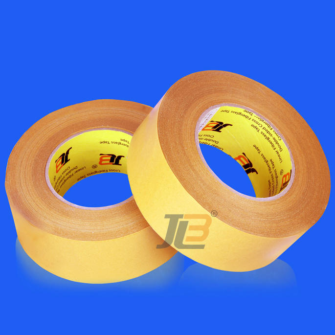 high strength cross weave reinforced double sided fiberglass tape for sealing free samples
