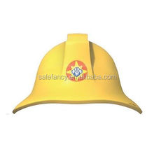 Fashion kids plastic fireman sam birthday party hat QHAT-6063