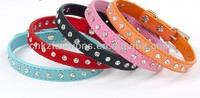 colors diamond suede studded pet collars for small animals