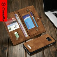 Alibaba express PU+PC 2 in 1 genuine leather case for Samsung galaxy s7 edge / s7 flip cell phone case