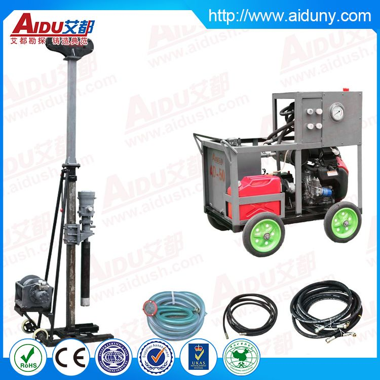 High precision durable small hydraulic rotary pile drill rigs