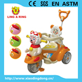 children tricycle with music and lovely sheep head popular factory baby trike with pushbar and canopy tricycle for kids