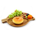 Customized leaf shape Acacia wood snack dish tray plate
