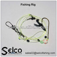 Chinese nylon line with hook,fishing rigs lines