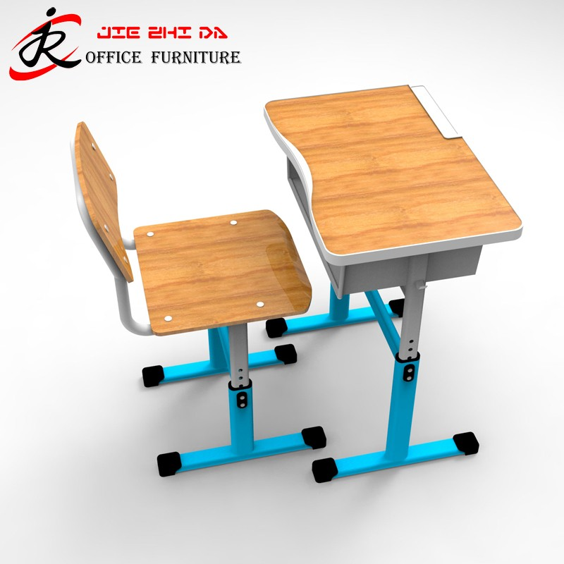 Cheap Single School Desk And Chair / Wooden school furniture