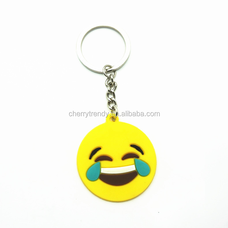 Smiley Face Keychain Heart Eyes Face Emoji Keychain