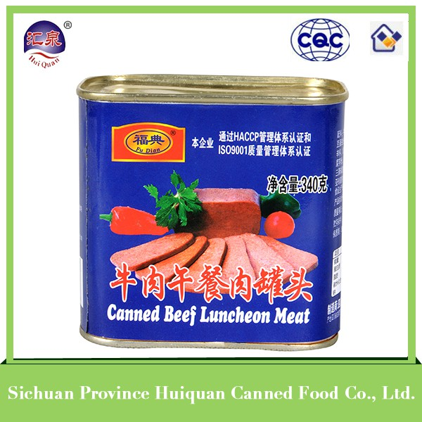 2014 hot selling products beef luncheon meat hot sale
