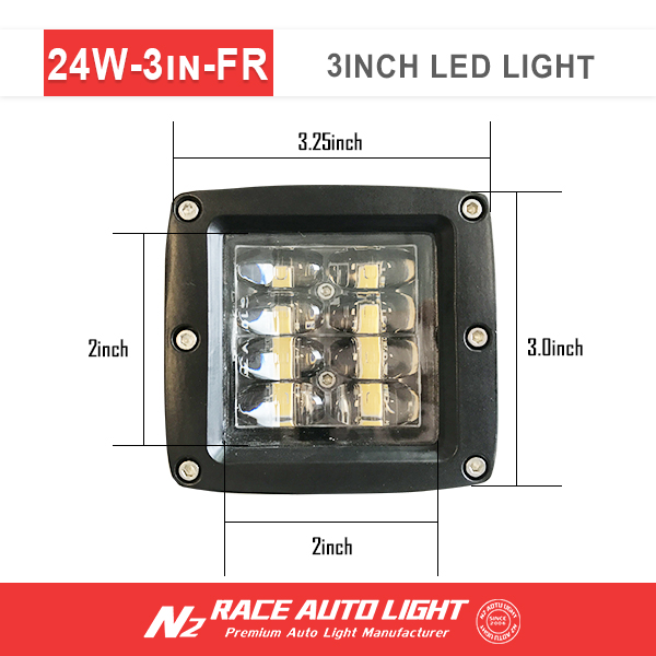 2 Inch Off Road 12v Work Vehicle light led pod light