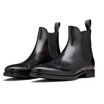Italy design fashion genuine leather men chelsea boots ankle boots