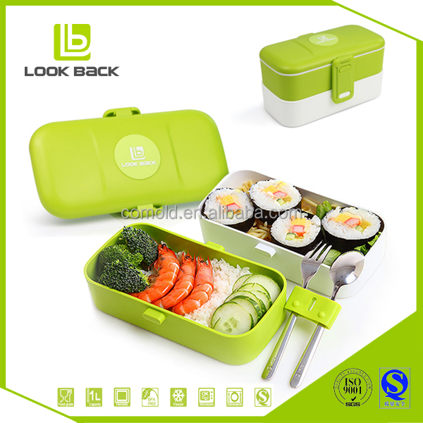 Hot selling plastic food carrier with handle and lid