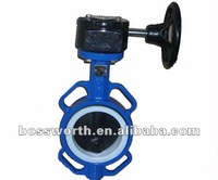 BW102 Cast Iron Worm Gear Operated Wafer Butterfly Valve
