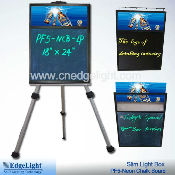 Slim Neon Chalk Board Light Box
