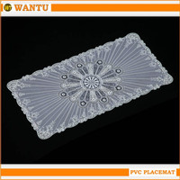2015 White Silver PVC woven clear plastic placemat