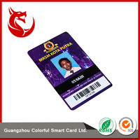 Standard size pvc sample employee id cards