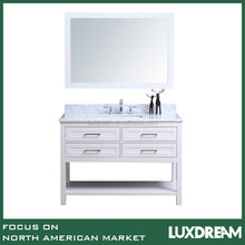 "White 48"" modern bathroom vanity furniture for Canada"