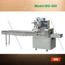 Full Automatic packaging plastic film OPP/PE wrapping bread flow pillow packing machine factory price Model 350,600