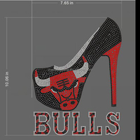 wholesale bulls with high heel shoes rhinestone transfers motif for T Shirt
