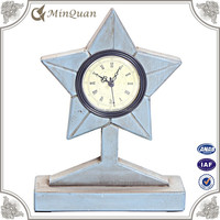 hand wood vintage table clock , small handicraft clock for craft